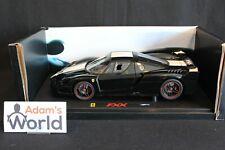 Hot Wheels Elite Ferrari FXX 1:18 black with whit / red / green stripe (PJBB)