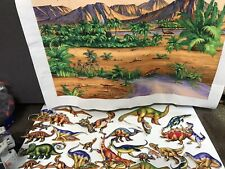 The Story Teller Dinosaurs Flannel Felt Play Board Great Condition 31 pc set Vg
