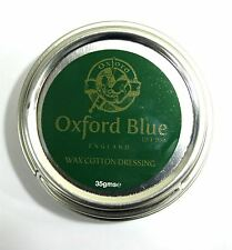 Oxford Blue Wax For Rewaxing Jackets Trousers all Cotton Fabric 35gram Tin £4.24