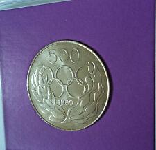 1980 Cipro 500 millesimi di pollice Olimpiadi di Mosca OLIMPIADI MEDAGLIA COMMEMORATIVA IN DISPLAY