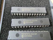 LOT OF 3 MICROCHIP PIC16F876-04I/SP 8-bit Microcontrollers - MCU 14KB 368 RAM 22