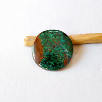 Natural Chrysocolla Gemstone Cabochan 34 Cts Jewelry Making Round Shape R14063