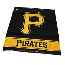 "MLB Pittsburgh Pirates Woven Golf Towel 16"" x 19"" Course Club Bag Jacquard"