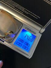 Goldene Damenuhr 14 Karat Gold 585 mir 585 Goldband 14,6 gr, gesammt