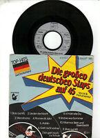 """7 """" Single Die großen deutschen Stars auf 45"""