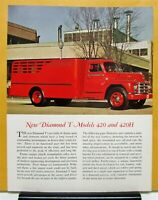 1950 Diamond T Truck Model 420 420H Sales Brochure & Specifications