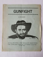 VERY RARE - JOHNNY CASH GUNFIGHT Original Movie Flyer / Article GOOD CONDITION