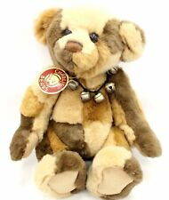 "Collectable CHARLIE BEARS ""PHILIP"" Brown Patchwork JOINTED Bear CB114748B - W20"