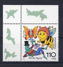 Bund Mi-Nr 1992 Ecke 1 (110+50 pf) Für die Jugend Biene Maja ** Postfrisch 1998