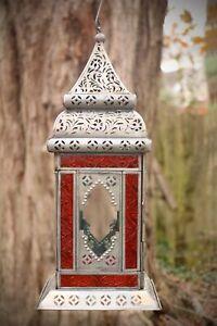 Morrocan style silver windowed lantern