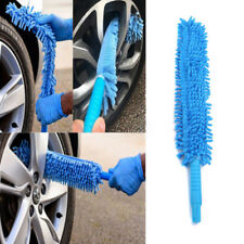2 In 1 Microfibre Noodle Long Flexible Wash Alloy Wheel Brush Car Cleaner Blue