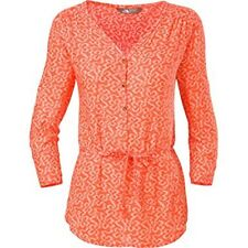 NWT $50 The North Face 3/4 Sleeve Grace Bay Shirt Women's Blouse ORANGE MEDIUM
