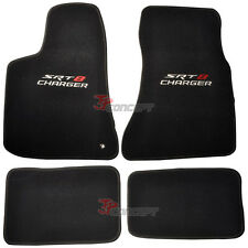 Fit 06-10 Dodge Charger SRT8 Black Nylon Car Floor Mats Carpets 4pcs