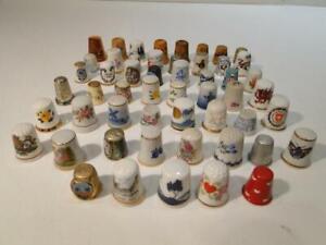Collection of 53 Thimbles  Scotland, England, Ireland, Denmark ++