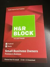 H&R Block Tax Software Premium & Business 2018 -Small Business Owner RED #6414