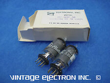 NOS MATCHED PAIRS: 12AU6 Vacuum Tubes - GE - USA - $22/pair (Tektronix Selected)