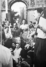 IZZY YOUNG Beatnik Riots clipping 1961 Washington Square Park folk B&W photo NYC