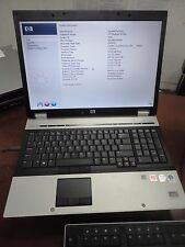 HP EliteBook 8730w Core 2 Duo 2.26ghz 4gb 250gb DVDRW  WiFi LINUX Laptop +AC