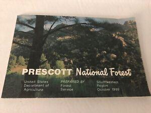 Vintage USDA Prescott National Forest Galt and Salt River Travel Map 1986