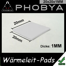 [Phobya ™] 1mm wärmeleitpad XT 20x20mm → 7w/mk RAM CPU GPU thermalpad