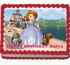 Sofia the First Princess Birthday party Edible Cake Topper 1/4 frosting sheet
