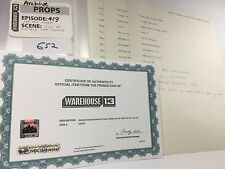 WAREHOUSE 13 'CAR THEFT FILE SET' w/ COA (Ep 413 'THE BIG SNAG')
