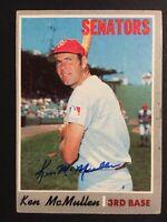 Ken McMullen Senators Signed 1970 Topps Baseball Card #420 Auto Autograph