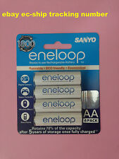 Japan Sanyo Eneloop AA 2000mAh HR-3UTGB NiMH 1800x Rechargeable Battery 4 Pack