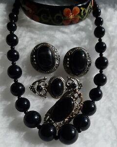 Black & Silver Tone Jewellery