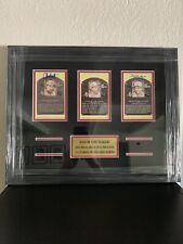 Greg Maddux Tom Glavine John Smoltz Signed HOF Postcards Framed PSA/DNA LOA