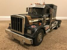 Tamiya 1/14 RC King Hauler Semi Truck Black Edition With Flat Bed Trailer