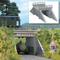 BNIB OO / HO BUSCH 1409 ROAD UNDERPASS KIT - RAILWAY BRIDGE - CONCRETE