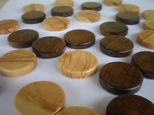 30 Olive Wood chips - Backgammon checkers from natural Greek Olive Root