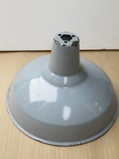 "VTG.COLOR PORCELAIN ENAMEL LIGHT SHADE FIXTURE 16"" INDUSTRIAL DISCARDED PART"