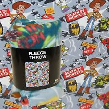 KIDS DISNEY TOY STORY DEATH BY MONKEYS FLEECE BLANKET THROW 127X152CM SOFT WARM!