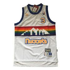 d40092133 Denver Nuggets Allen Iverson white Men s hardwood classics Jersey