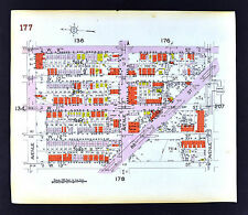 1929 Brooklyn Map Gravesend 86th Street West 5th-12th Avenue T-W New York City