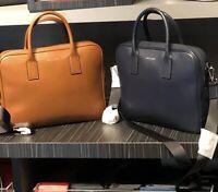 Michael Kors Mens Briefcase Bag  Leather Messenger Laptop Bag Case Navy Luggage