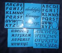 Plastic/PVC/Embossing/Stencil/Alphabet/SET/Upper/Lower Case/PP//Bendy/SET of 5