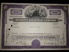ARCO Atlantic Richfield gas oil authentic issued stock certificate part of BP