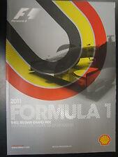 Programmaboekje Formula 1 Belgian Grand Prix Spa-Francorchamps 2011