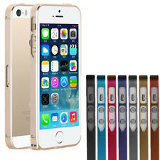 ULTRA THIN SLIM PROTECTIVE ALUMINUM METAL BUMPER CASE COVER FOR IPHONE SE 5 5S