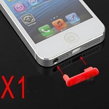 Stopper Antipolvere Doppio Cuffie Dock Anti Dust Rosso per Iphone 5 5G 5S 5C SE