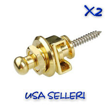 NEW-Schaller Style Strap Locks QT=(2)Gold- FAST FREE Shipping from USA!!!
