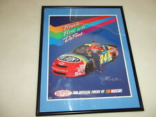 FRAMED AUTOGRAPHED JEFF GORDON FINISH FIRST DUPOINT POSTER SIGNED RACING NASCAR