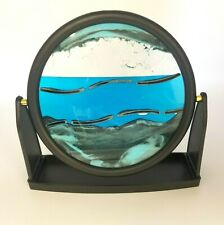 """Relaxus Round Zen Sands Art Display 9"""" Decorative Tabletop Moving Sand Picture"""