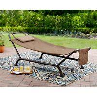Hammock Deluxe Outdoor Patio Furniture Backyard Stand Swing Lounge Bed Sleep New