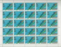 1980 CENTRAL AFRICAN REPUBLIC-LAKE PLACID-13th WINTER OLYMPIC GAMES SHEET MNH
