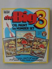 Vintage Craft House Oil Paint By Number Set The Big 3 Country Roads #01016 New