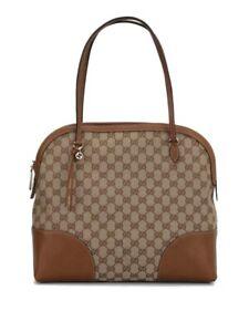 Authentic Gucci Monogram GG Bree Shoulder Bag